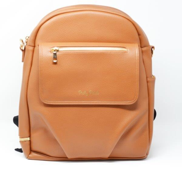 Pretty Pokets Vegan Leather Diaper Bag Backpack