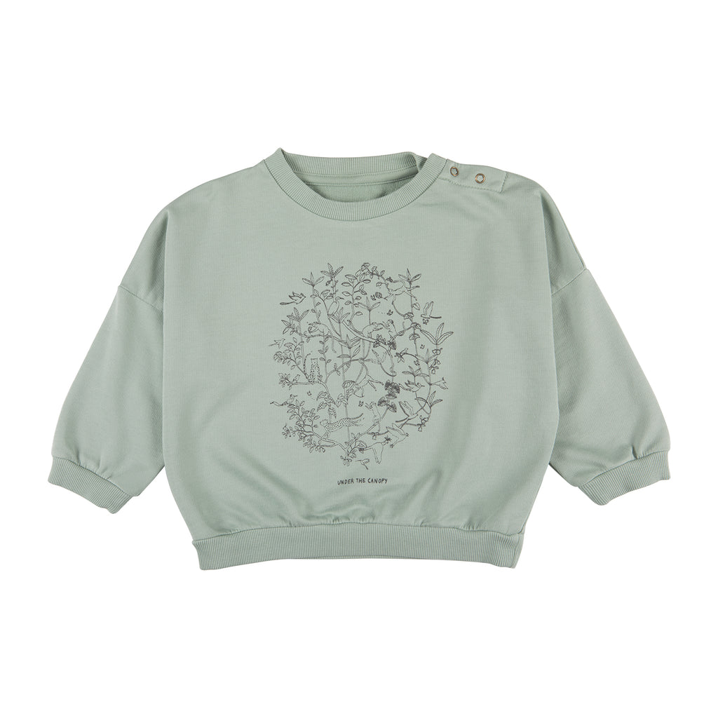 Red Caribou 'Under the Canopy' Jadeite Sweatshirt