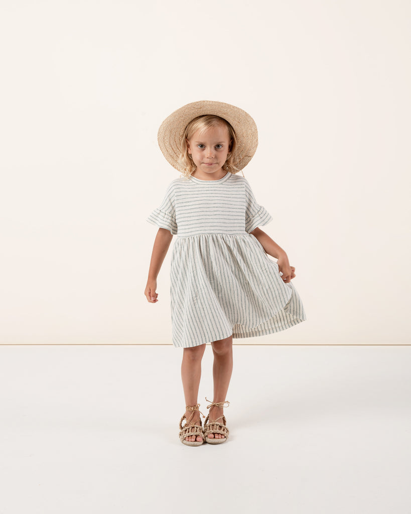 Rylee + Cru Stripe Babydoll Dress - Sea