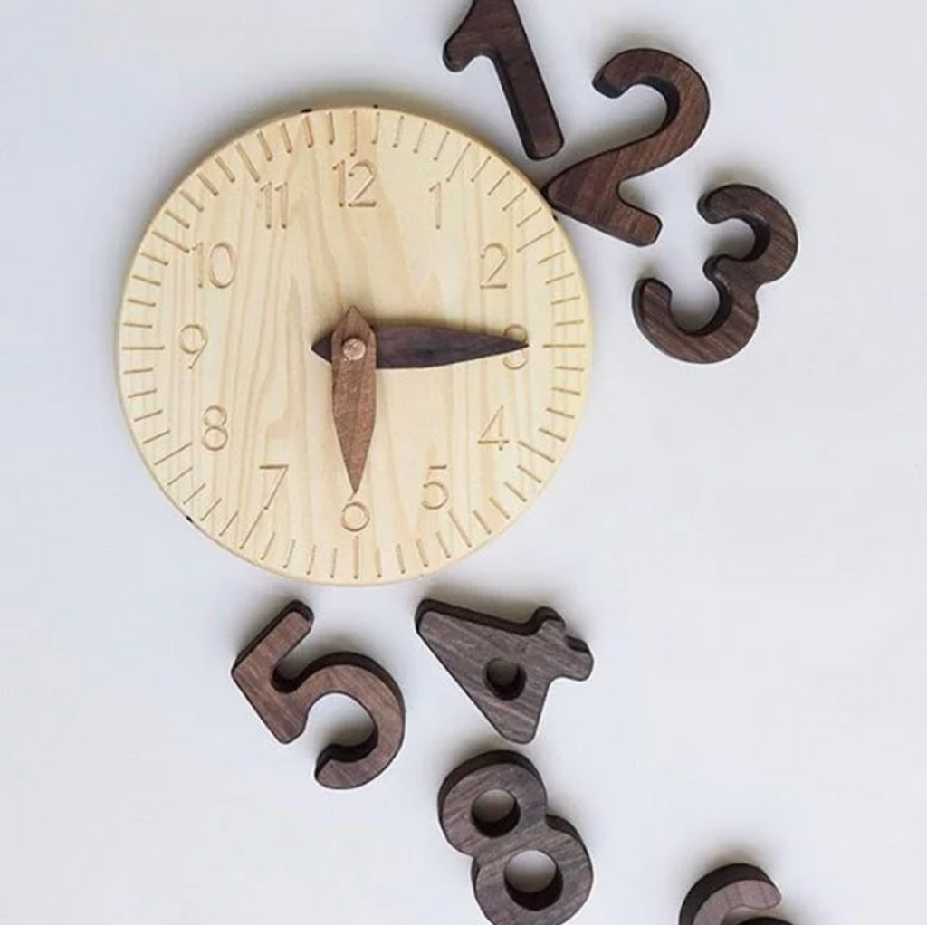 Natural Wooden Clock