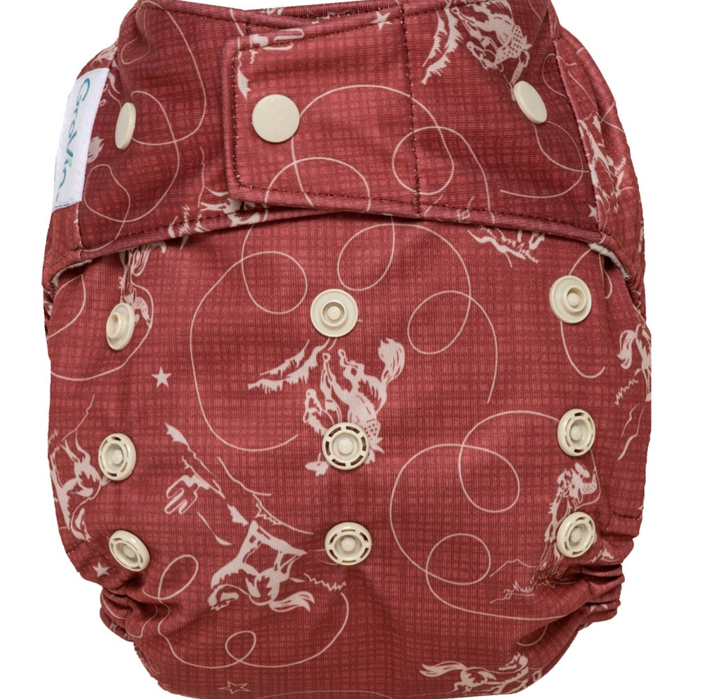 GroVia Hybrid Shell Snap Diaper - Tex
