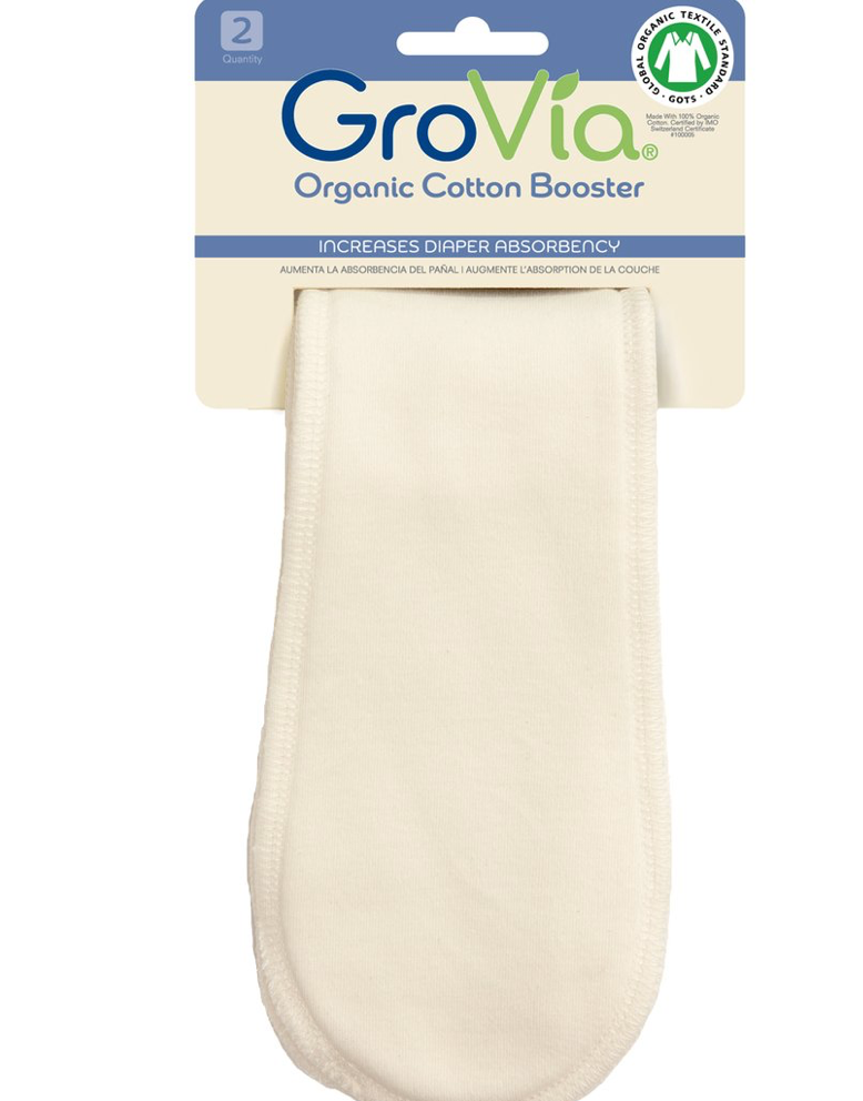 GroVia Organic Cotton Booster - 2-pack