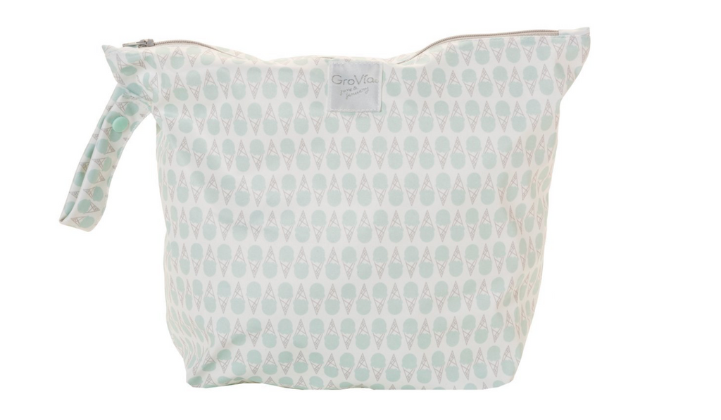 GroVia Zippered Wetbag - Soft Mint Ice Cream