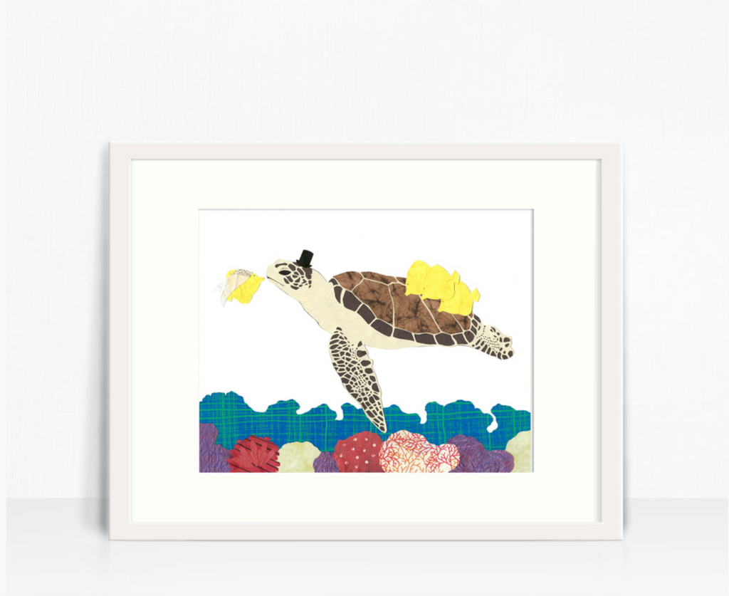 Whimsy Spot Art Print - Turtle Sea