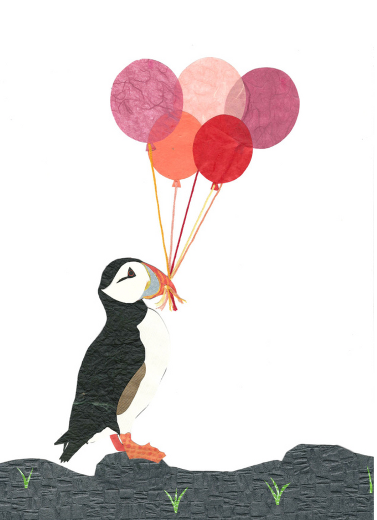 Whimsy Spot Art Print - Balloon Puffin