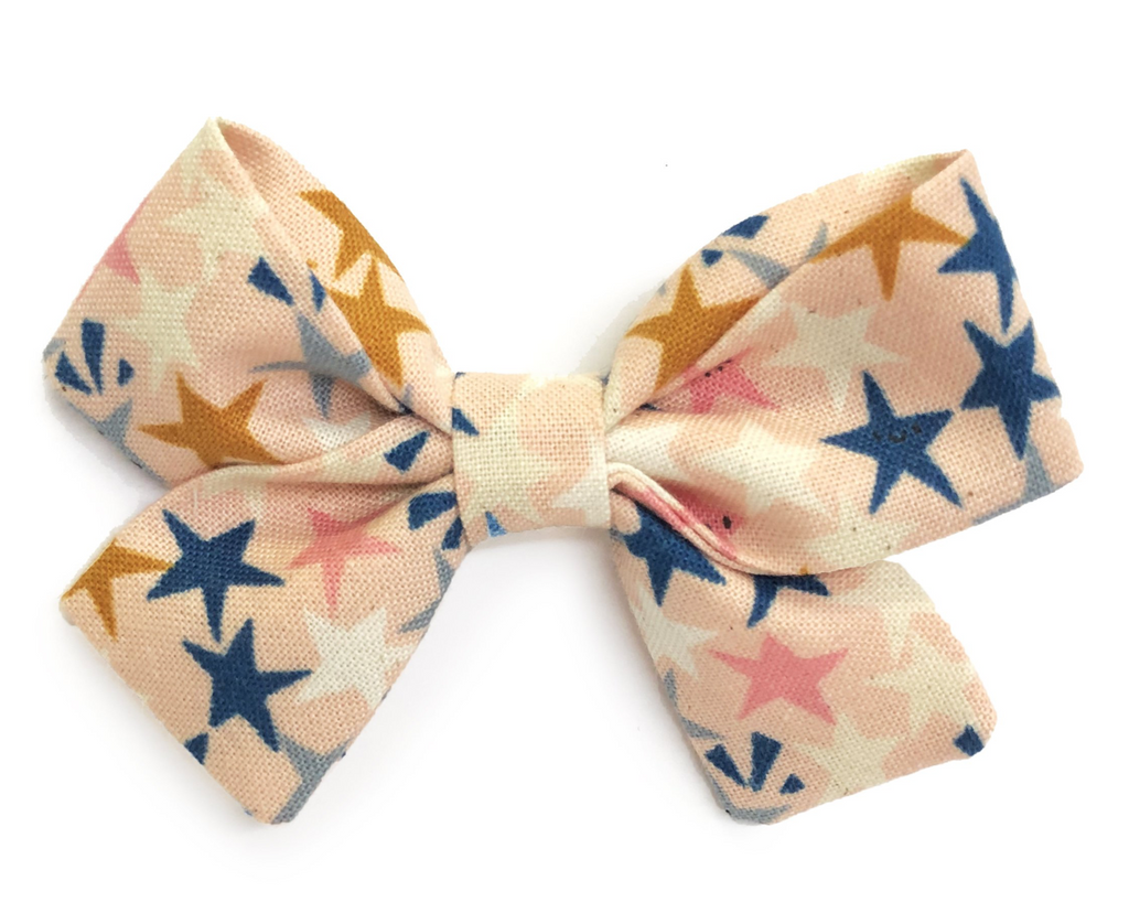 Bumbelou Jane Bow Headband - Blush Stars