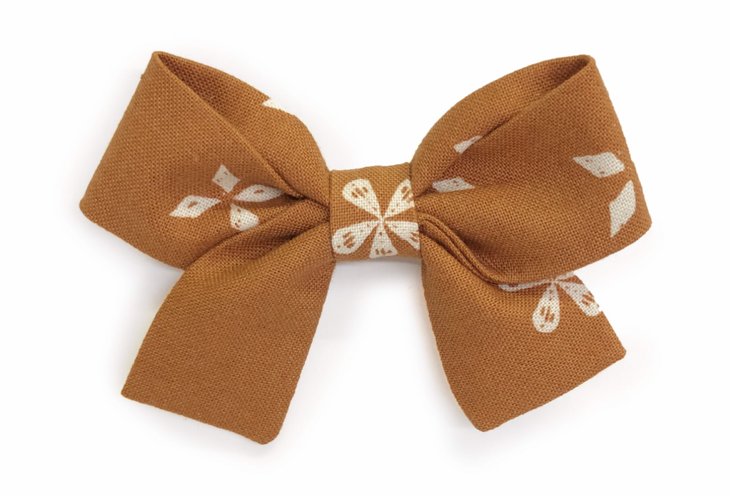Bumbelou Jane Bow Headband - Meadow in Caramel