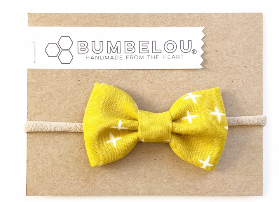 Bumbelou Classic Bow Clip - Goldenrod X