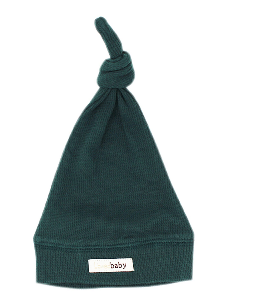 L'ovedbaby Organic Thermal Knotted Cap - Pine