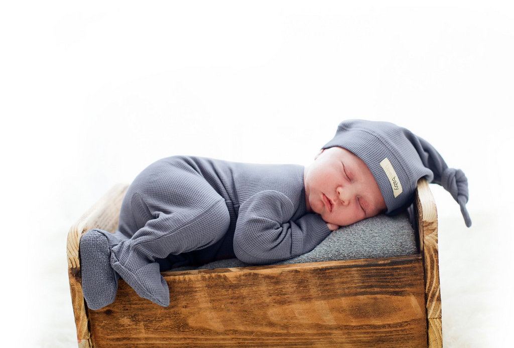 L'ovedbaby Organic Thermal Knotted Cap - Dusk
