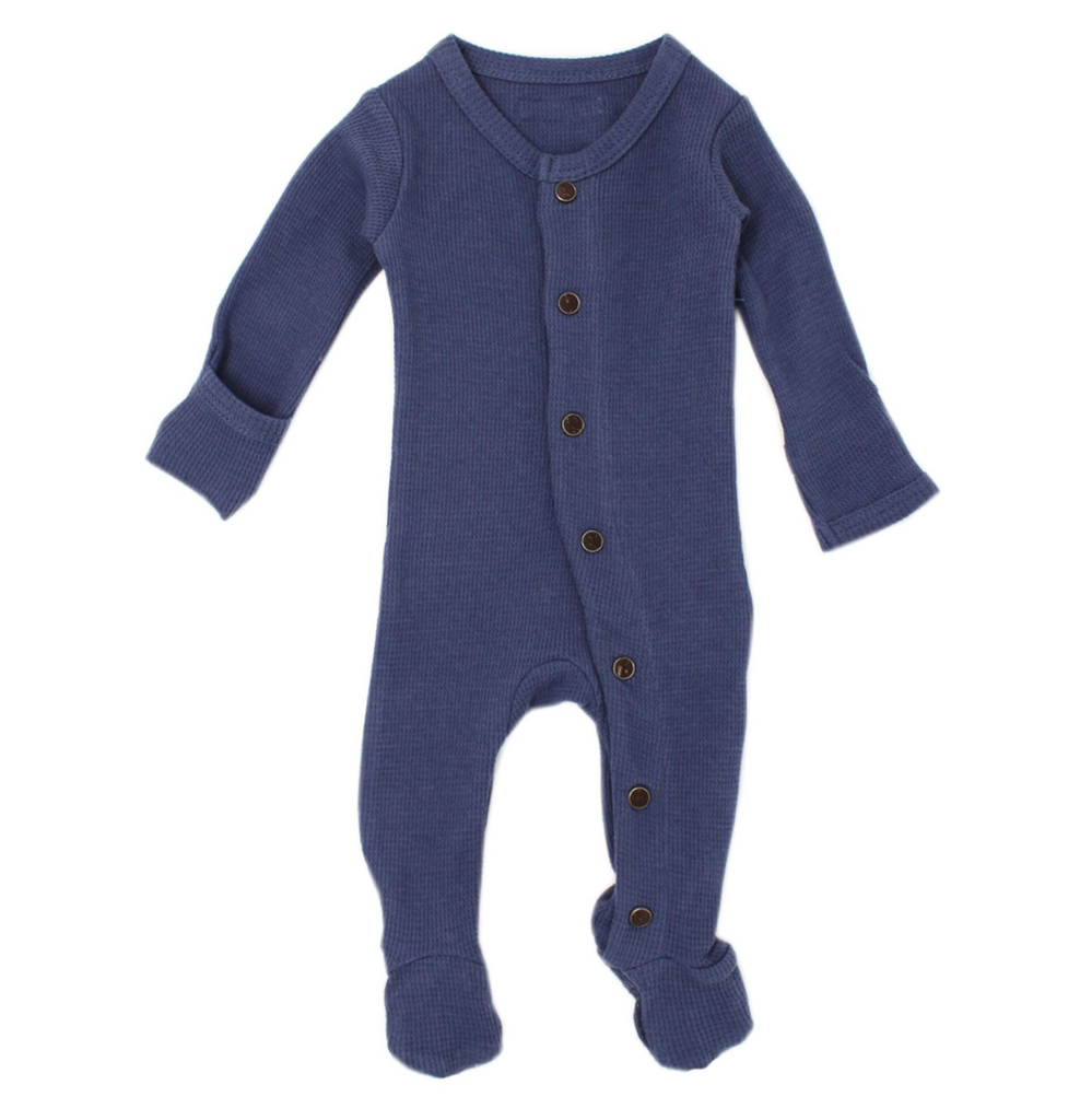 L'ovedbaby Organic Thermal Footed Overall - Dusk