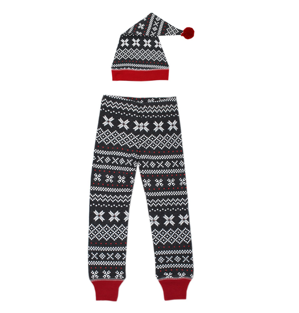 L'ovedbaby Holiday Men's Holiday Jogger & Cap Set - XOXO Fair Isle