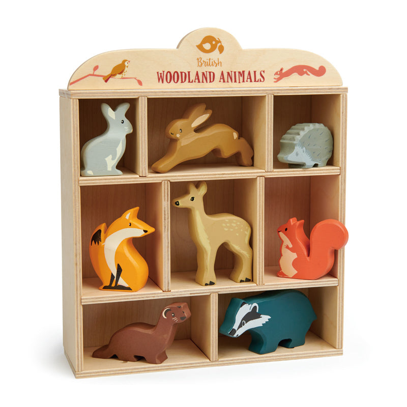 Tender Leaf Toys - Woodland Animals with Wood Box