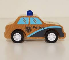 Manhattan Toy Co. Pull Back Rescuers - Police Car