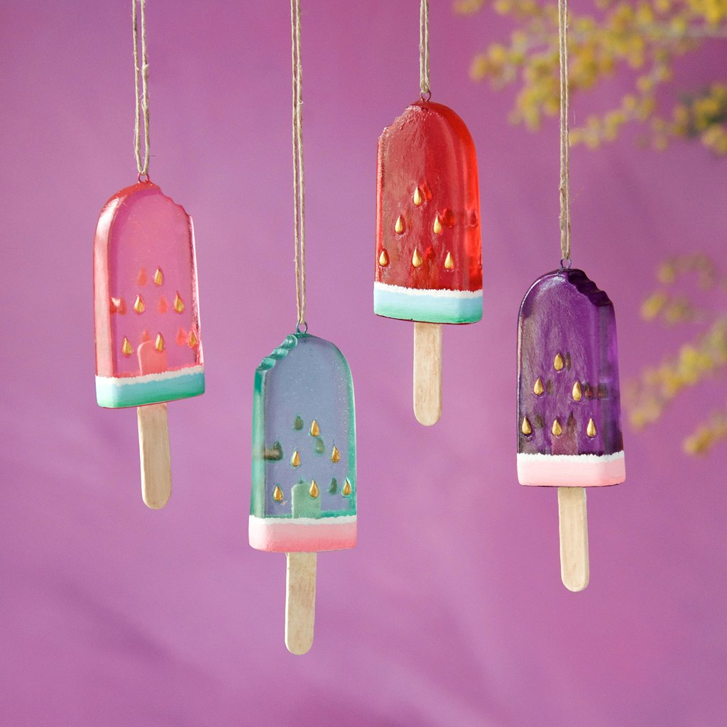 Glitterville Studios - Watermelon Popsicle Ornament