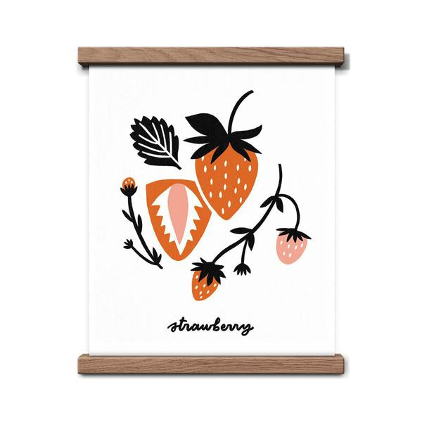 Worthwhile Paper Art Screen Print - Strawberry 8 x 10