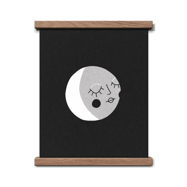 Worthwhile Paper Art Screen Print - Moon Kids 8 x 10