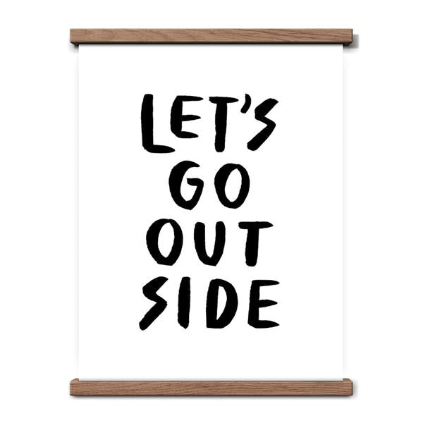 Worthwhile Paper Art Screen Print - Let's Go Outside 11 x 14