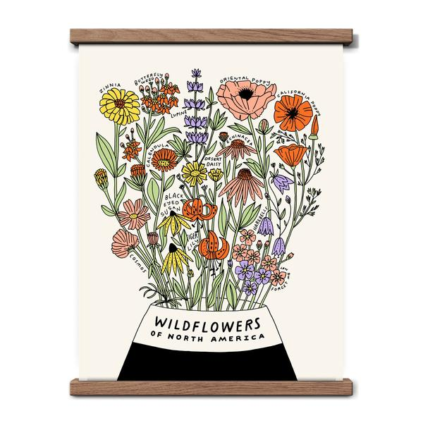 Worthwhile Paper Art Screen Print - Wildflowers 11 x 14