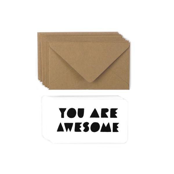 Worthwhile Paper Mini Notes Set of 12 - You Are Awesome