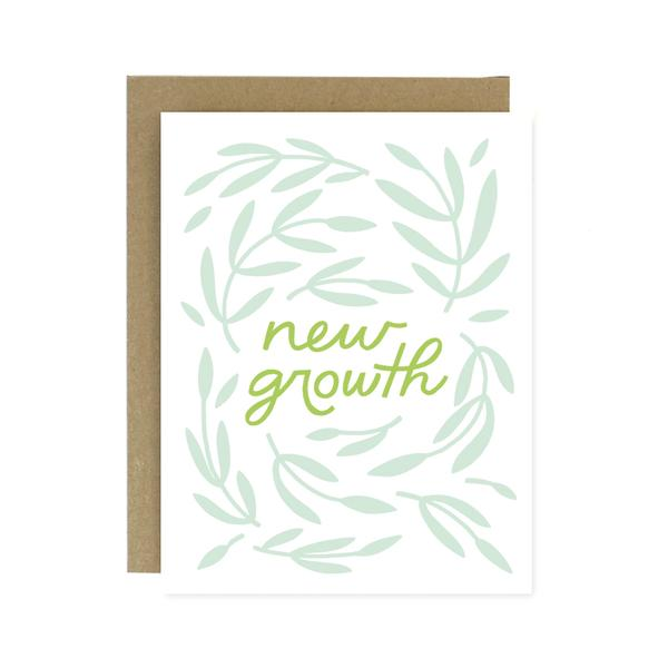 Worthwhile Paper Screen Printed Folding Card - New Growth