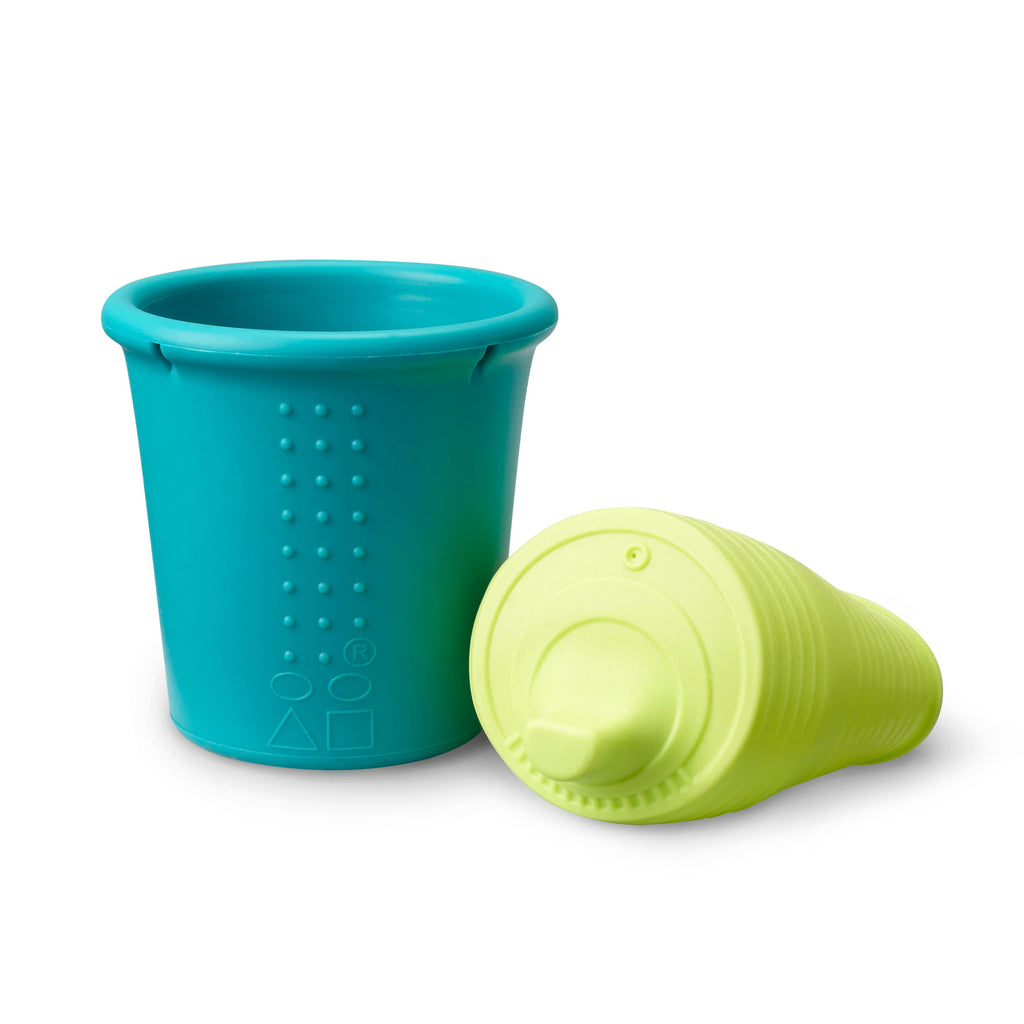 GoSili - 8oz Universal Sippy Cup - Lime/Teal