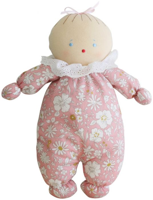 Alimrose Asleep Awake Baby Doll - Pale Pink