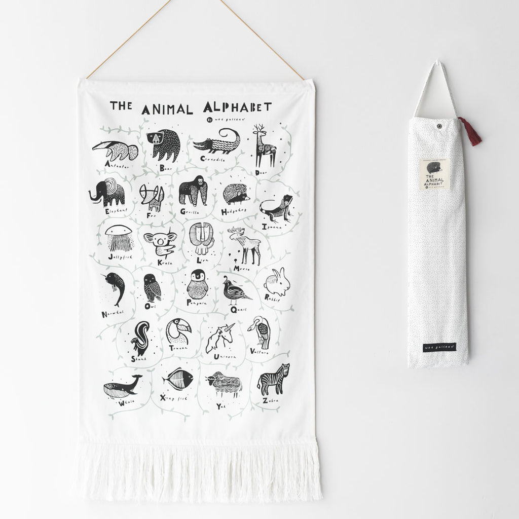 Wee Gallery - Animal Alphabet Wall Hanging