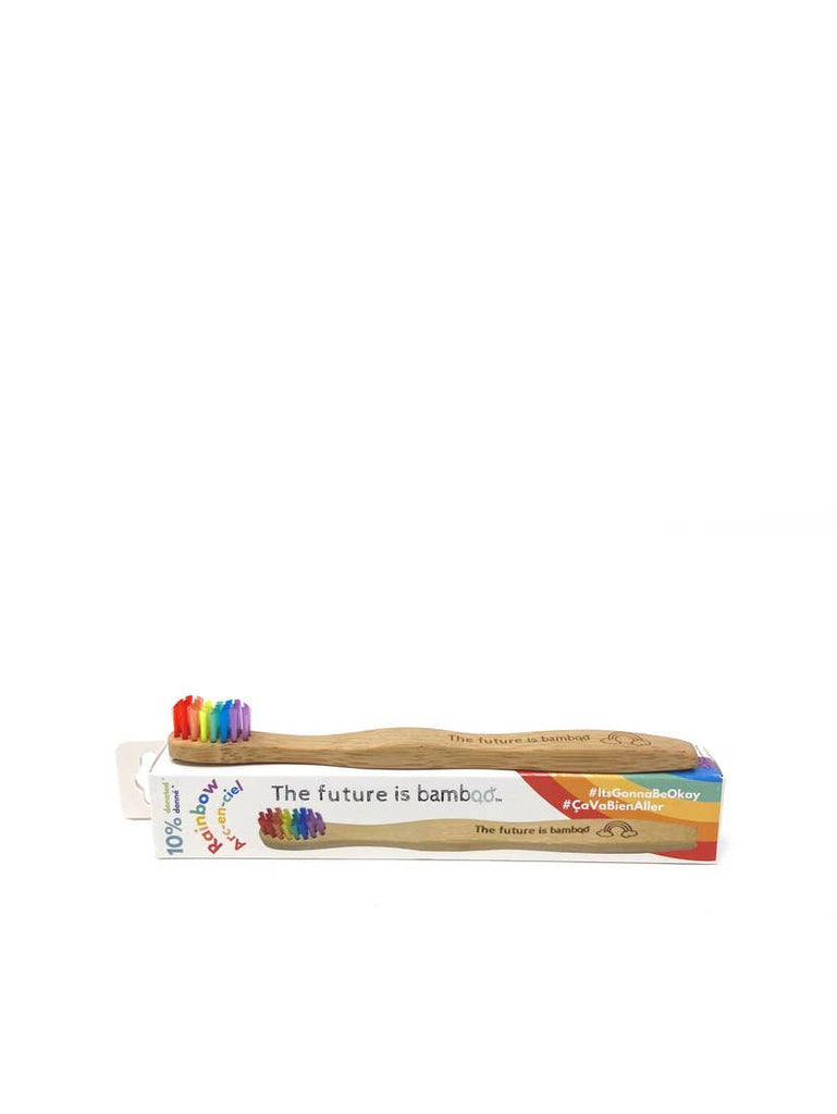 The future is bamboo - RAINBOW Kids Soft bamboo Toothbrush