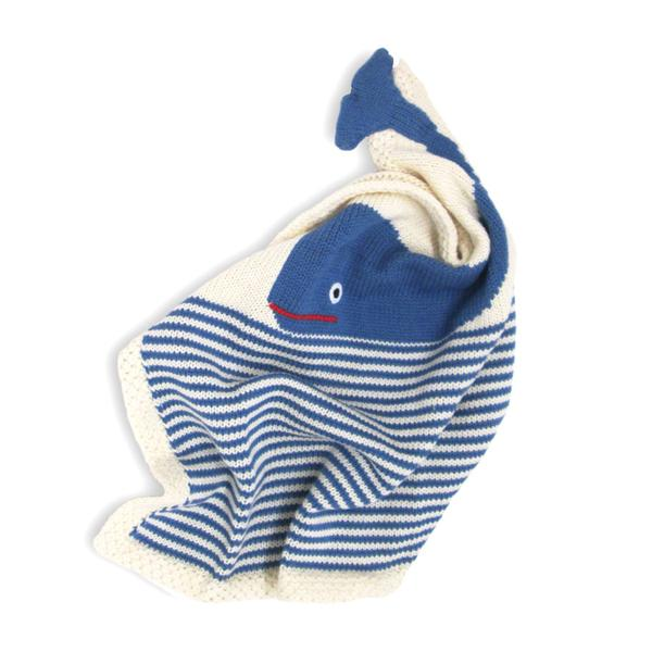 Estella - Organic Whale Lovey / Baby Security Blanket