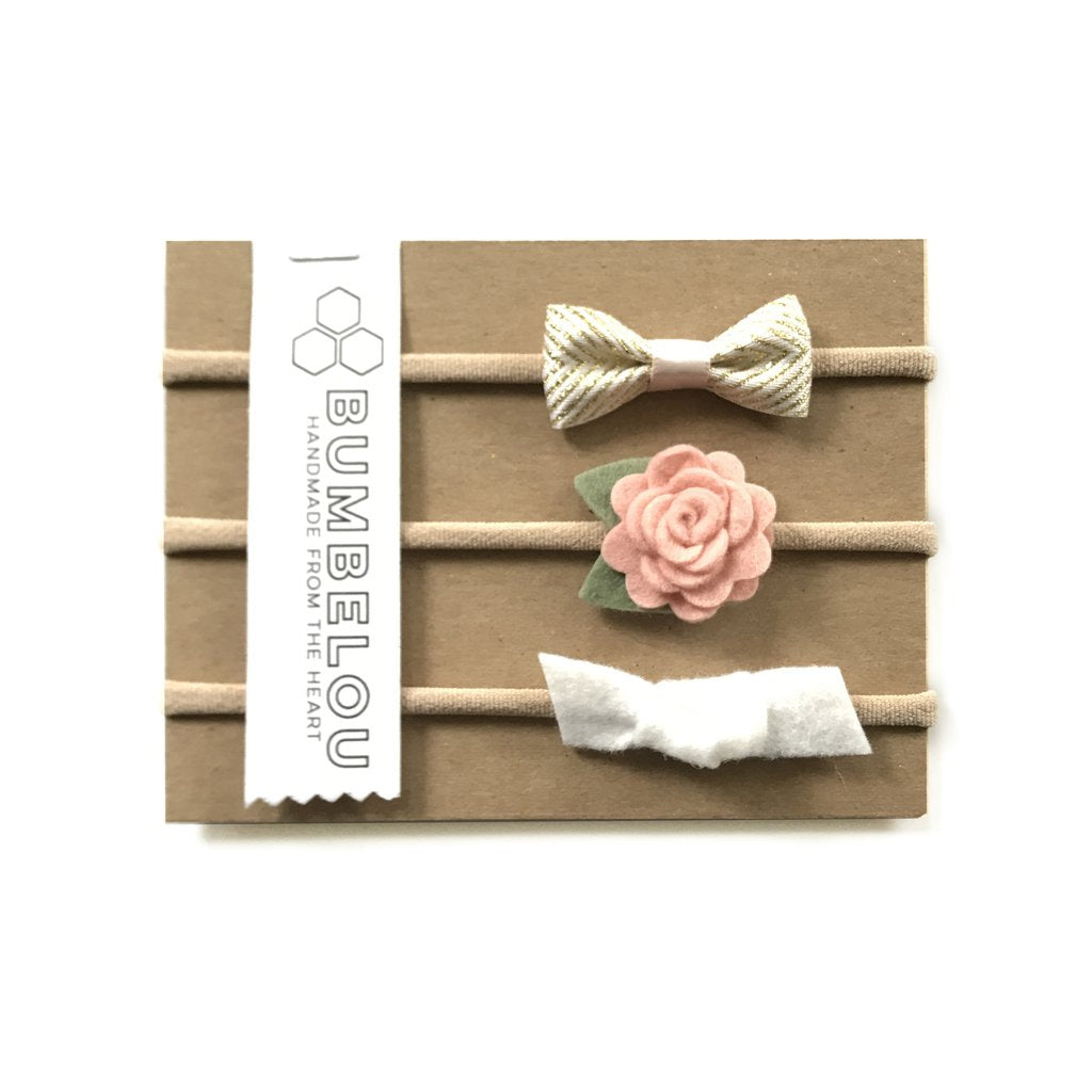 Bumbelou Blushy Neutral Headband Set