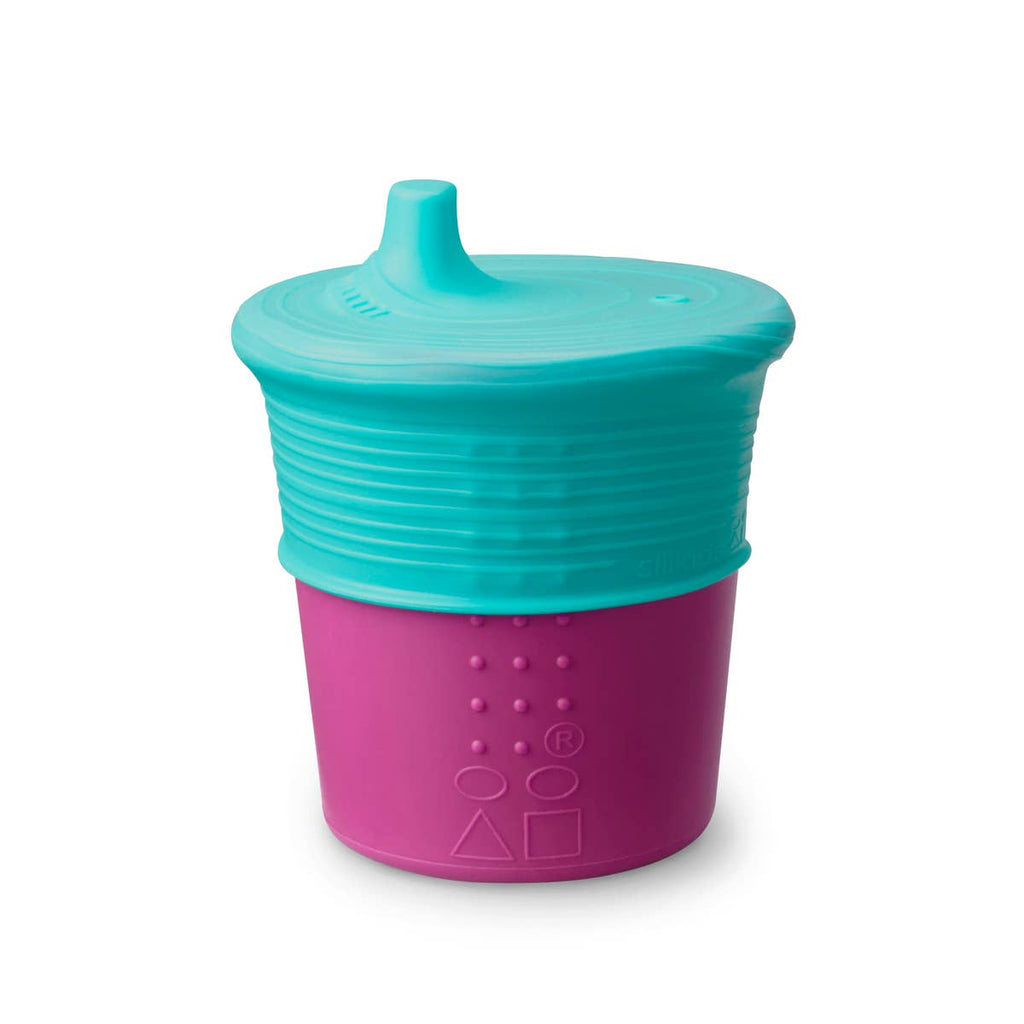 GoSili - 8oz Universal Sippy Cup - Purple/Teal