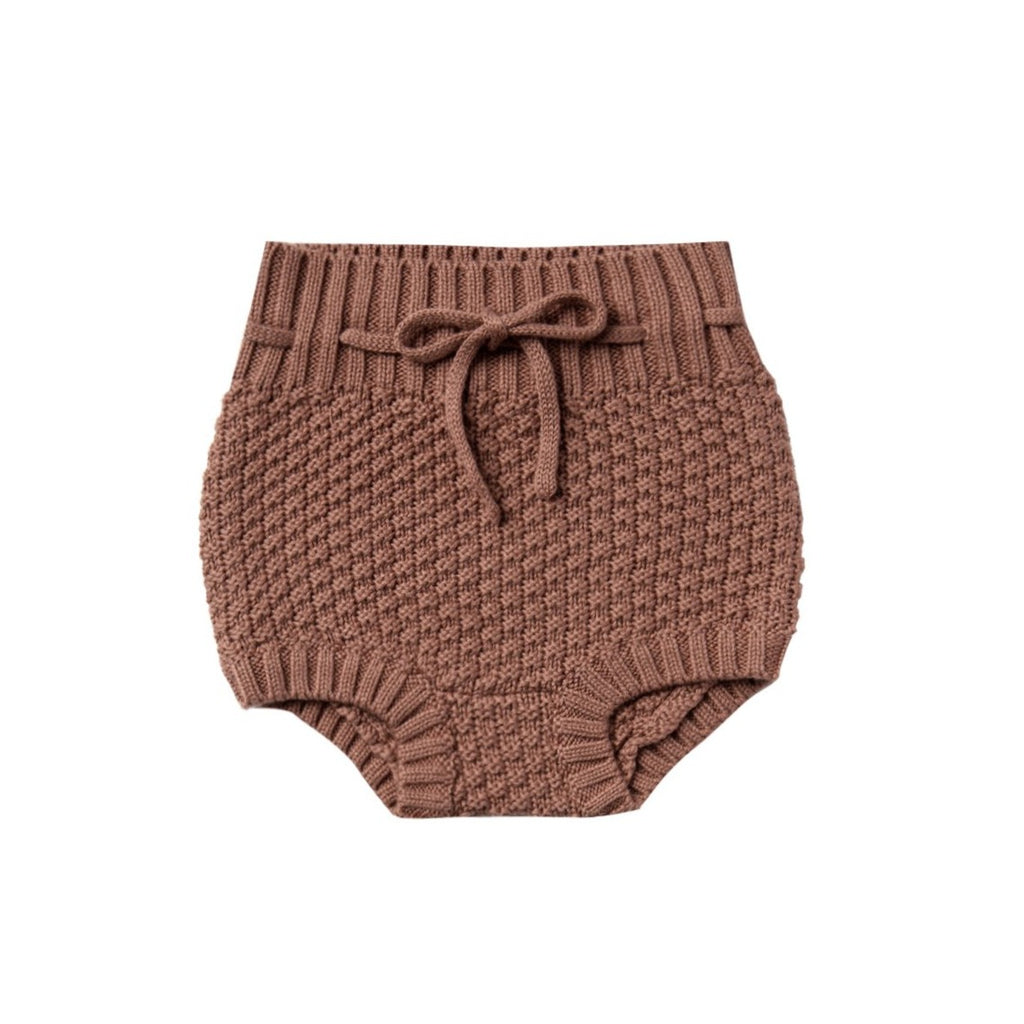 Quincy Mae Knit Tie Bloomer - Clay