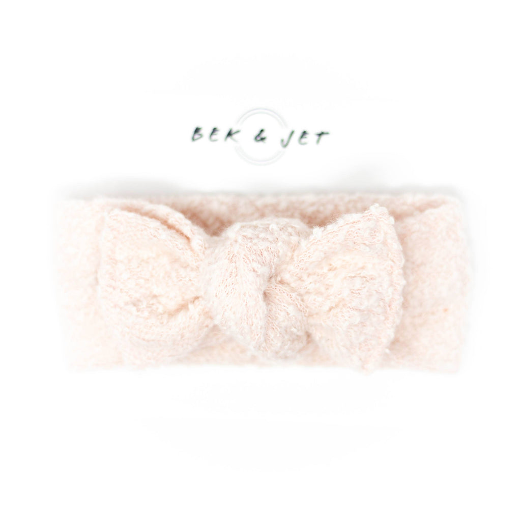 Bek & Jet - Blush Fleece Knit Headwrap