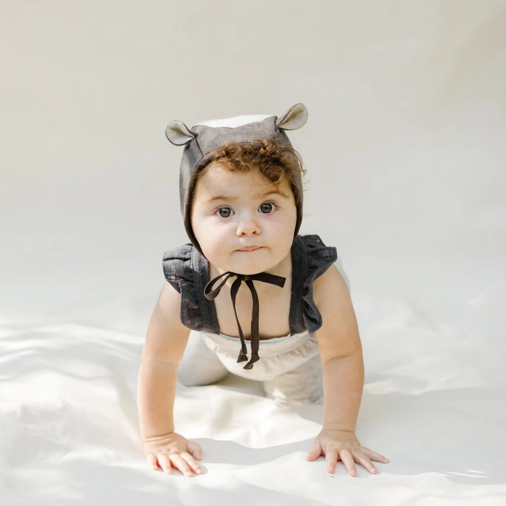 Briar Handmade Bonnet Fall Animals - Skunk