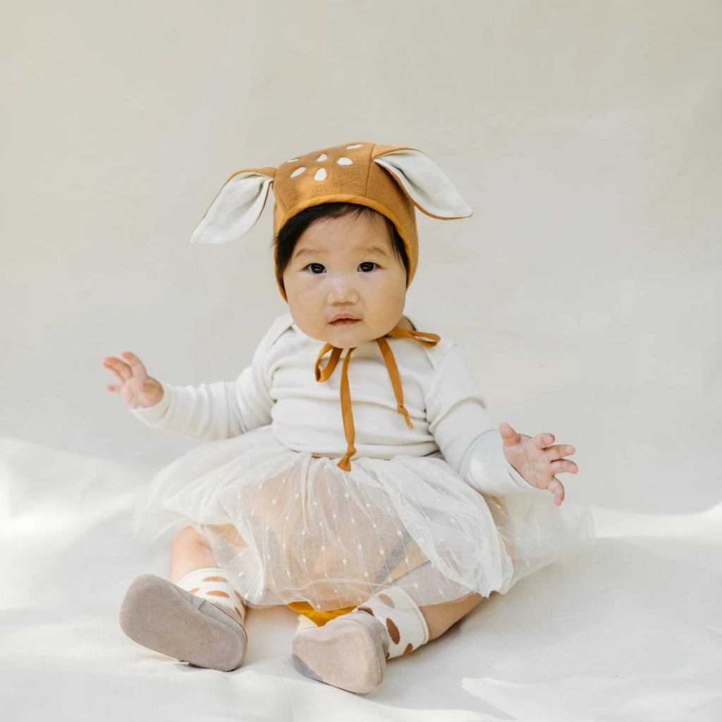 Briar Handmade Bonnet Fall Animals - Fall Fawn
