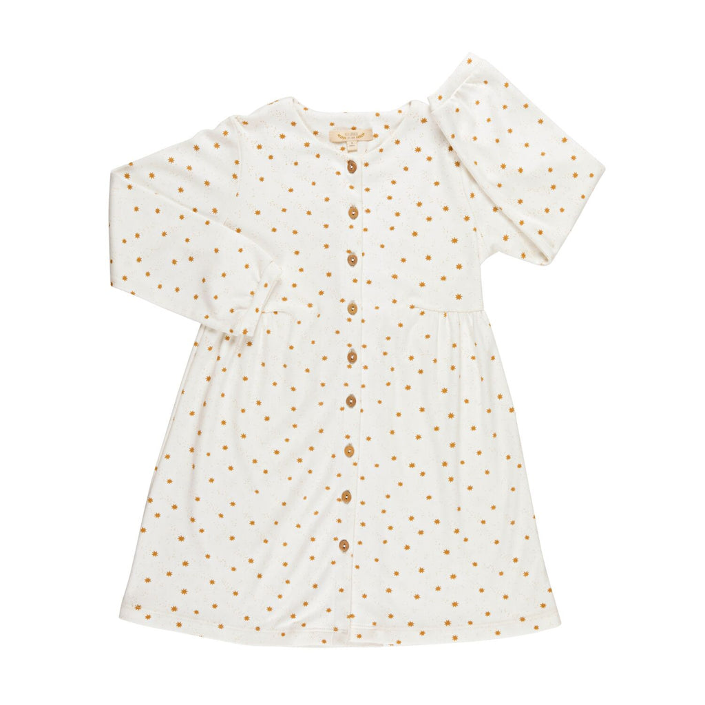 Red Caribou Shirt Dress - Magic Flakes/Eco-white