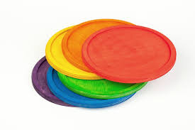 Grapat Six Rainbow Stacking Plates