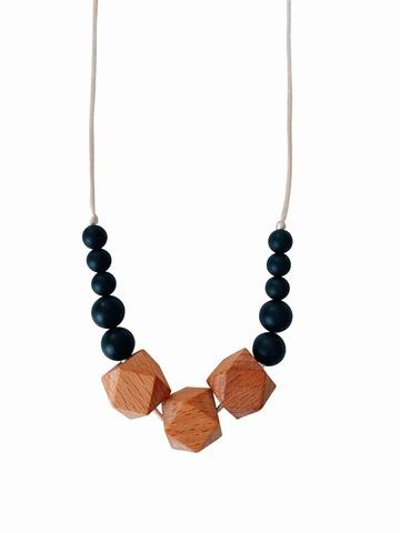 The Easton - Black Teething Necklace