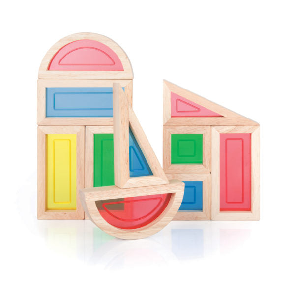 Guidecraft Rainbow Blocks - 10 pc. set