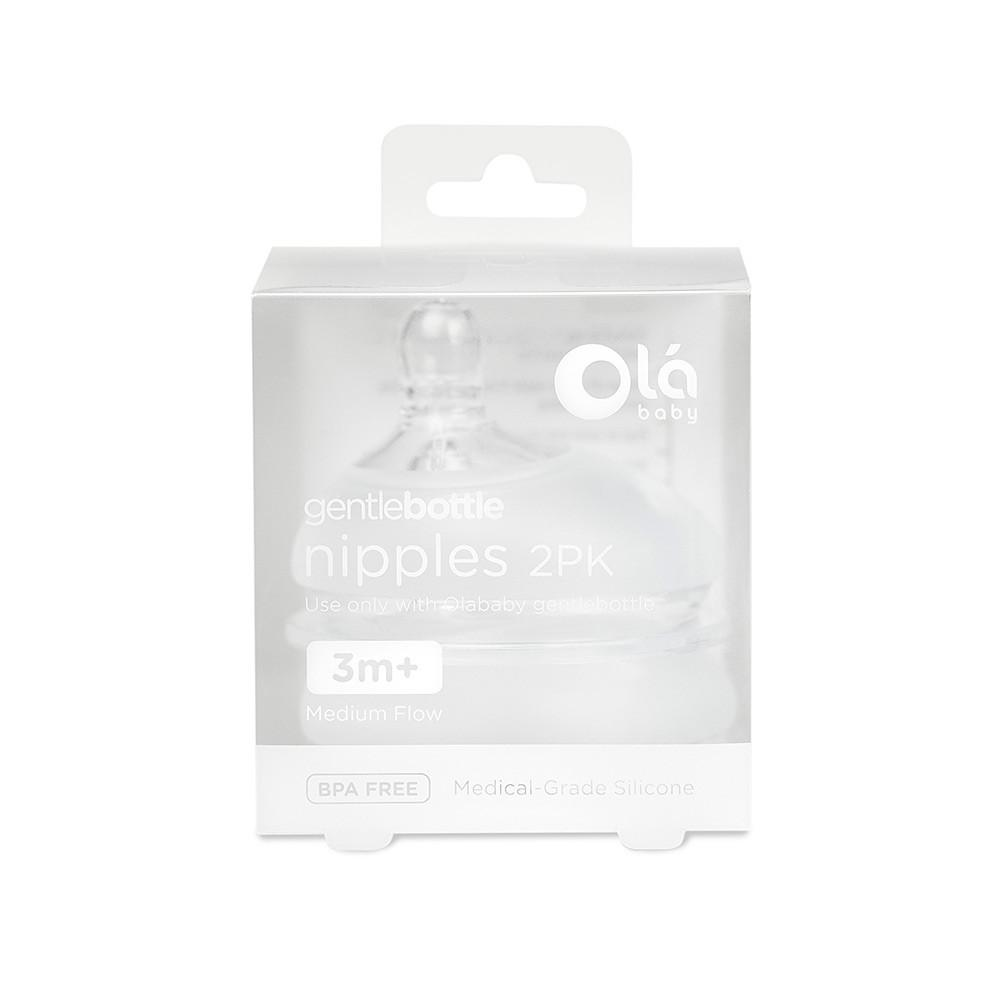 Ola Baby - Gentle Bottle medium flow nipples - 2 PK