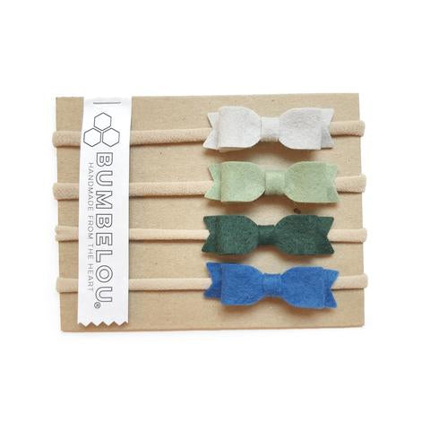 Bumbelou Mini Bows Headband Set - Pond