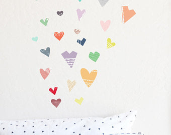 The Lovely Wall Co. Wall Decals - Paper Cut Hearts
