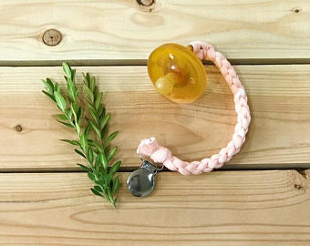 Oh Elle Design Co. Braided Pacifier Clip