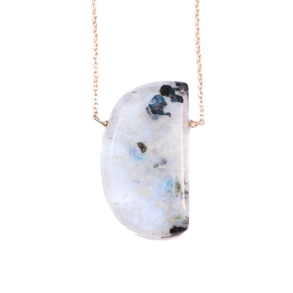 Julia Szendrei Moonstone Moon Phase Necklace