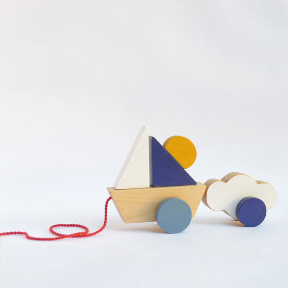 The Wandering Workshop Wooden Toy - Pull Toy Boat