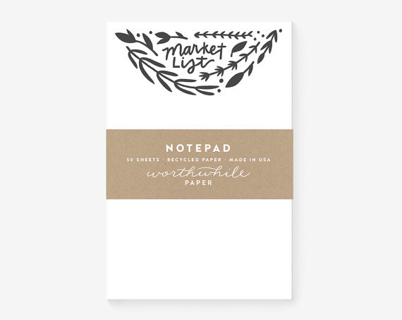 Worthwhile Paper Notepad - Market List