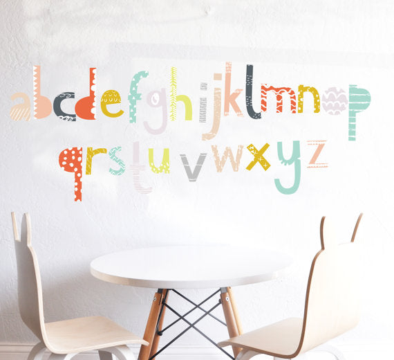 The Lovely Wall Co. Wall Decal - Alphabet Wall