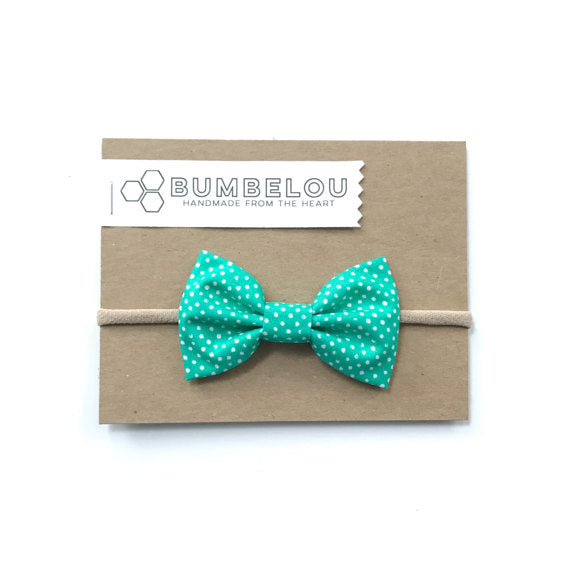 Bumbelou - Classic Fabric Bow - Kelly Dot