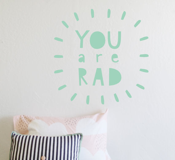 The Lovely Wall Co. Wall Decal - You are Rad